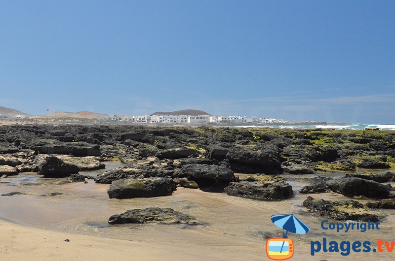 Famara à l'ouest de Lanzarote