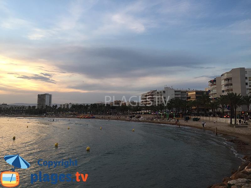 Front de mer au niveau de la plage du Llevant - Salou