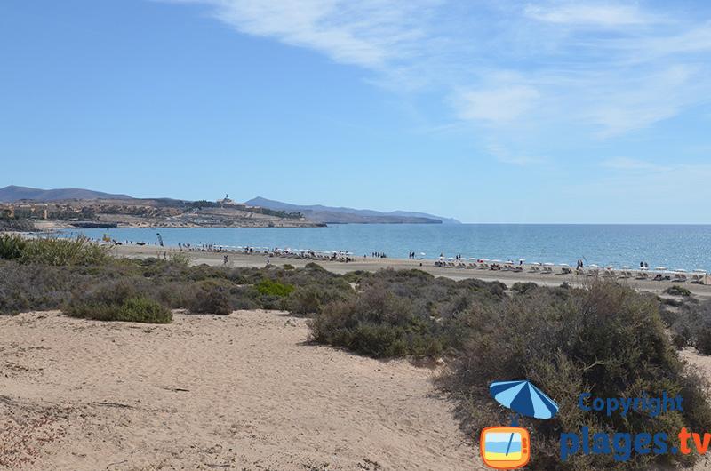 Costa Calma aux Canaries (Fuerteventura) avec sa plage de sable