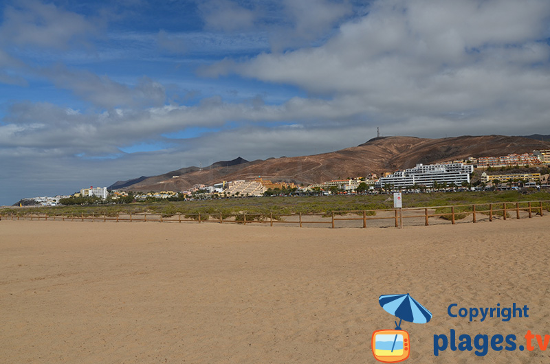 Morro Jable à Fuerteventura - Canaries - entre sable et constructions