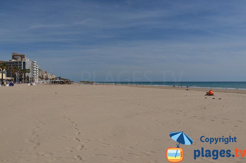 Grande plage de Cadix