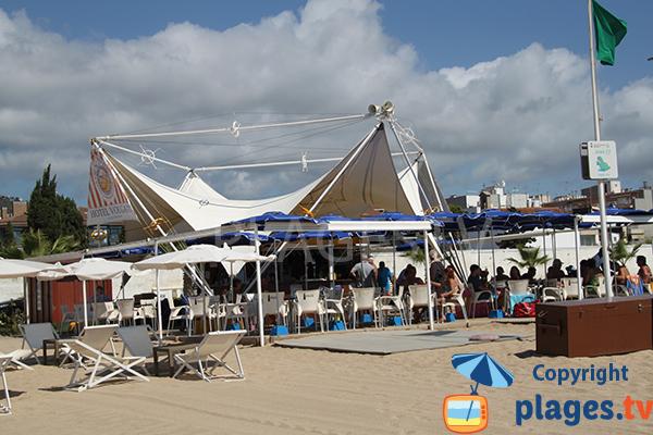Restaurant sur la plage de Calella