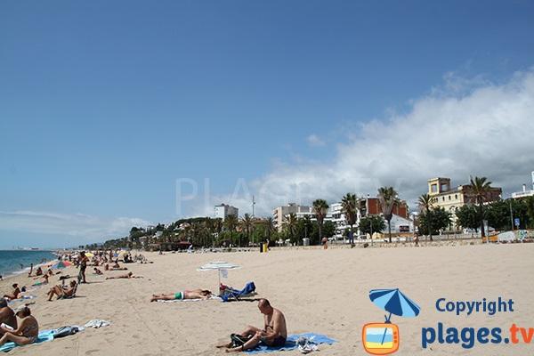 Canet de Mar et sa plage - Cote de Maresme