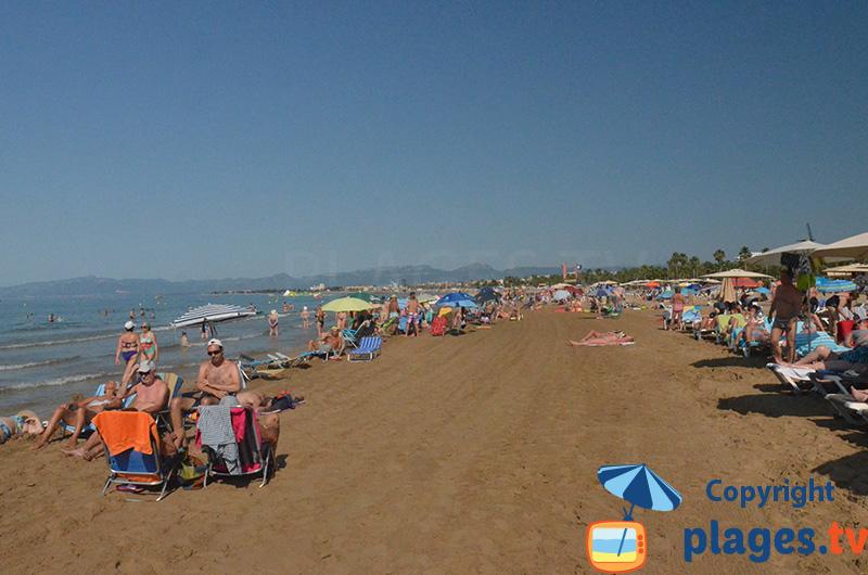 Grande plage du centre ville de Salou