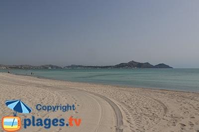 Grande plage de Muro à Majorque