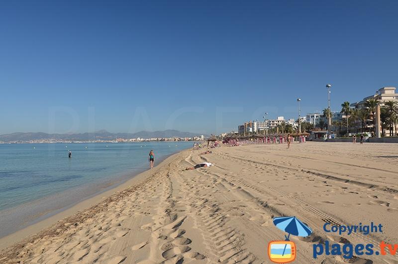 Grande plage de Palma de Majorque