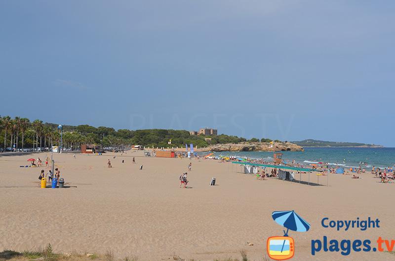 Grande plage à proximité du centre ville de Tarragone - Espagne