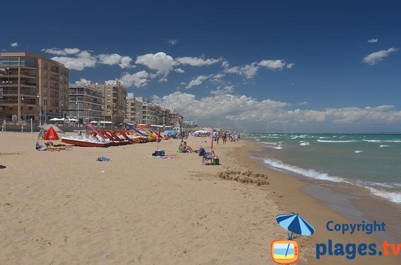 Guardamar au sud d'Alicante avec sa plage de sable