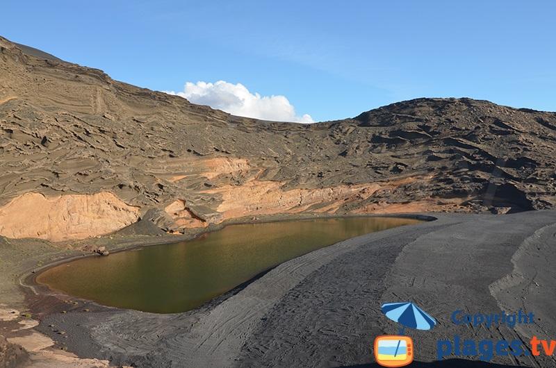 Lagune verte à Lanzarote