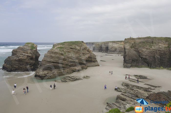 La plage des Cathédrales en Espagne