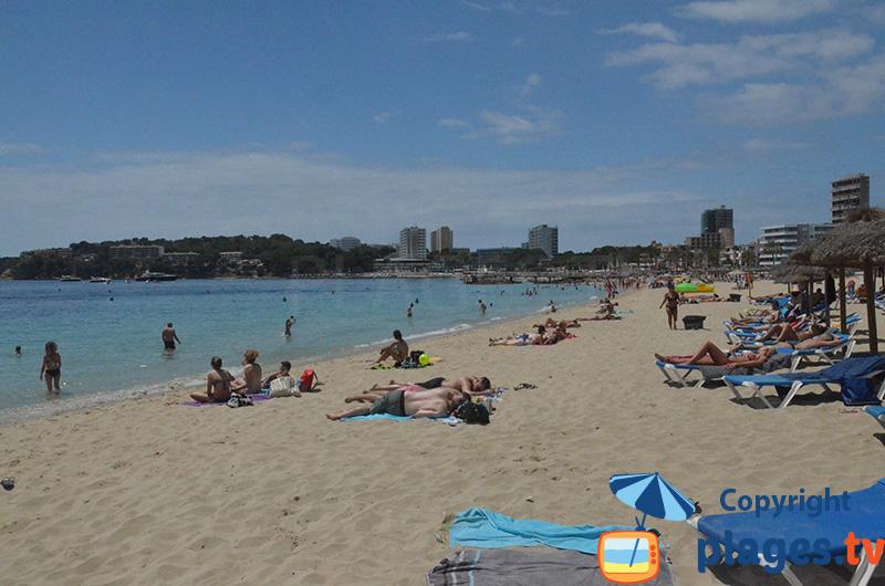 Magaluf sur la plage en journée