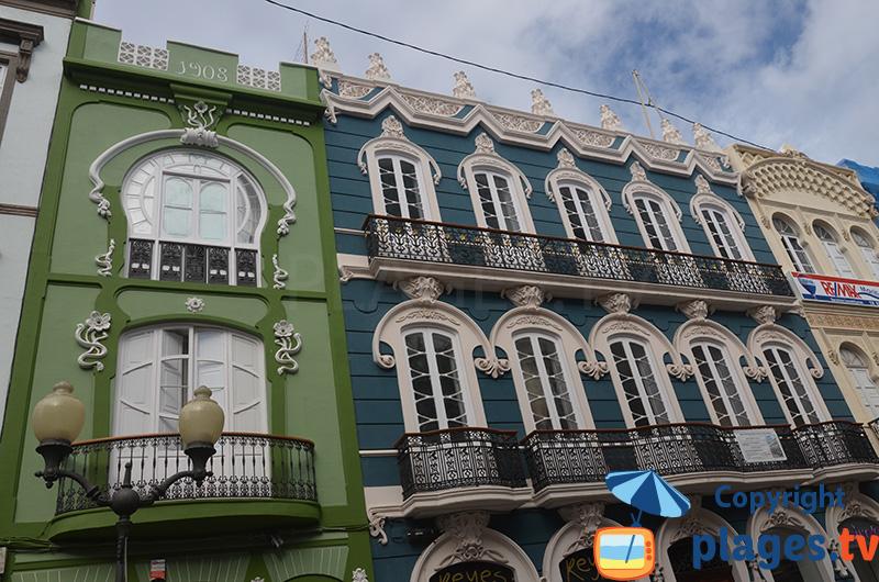 Las Palmas - immeubles colorés - Gran Canaria