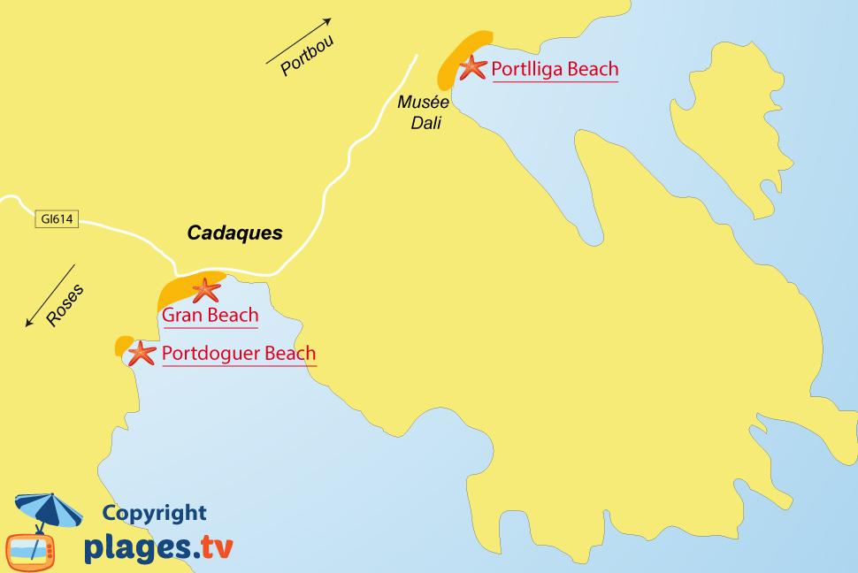 Beaches in Cadaqus Catalonia Spain Seaside resort of Cadaques