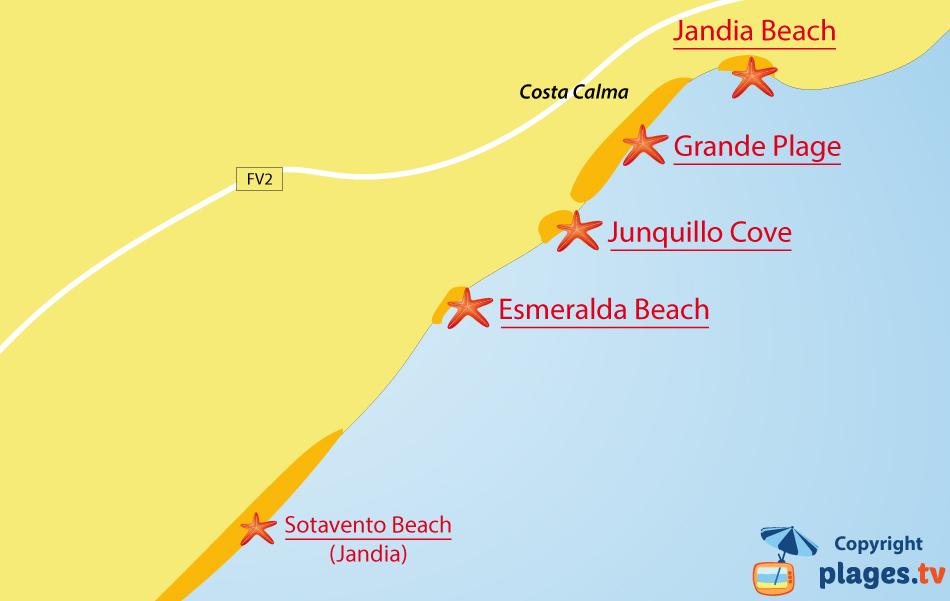 Jandia Beach in Costa Calma Fuerteventura Canary Spain