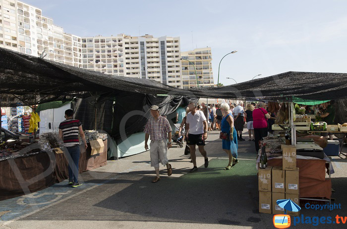 Beachfont market in Empuriabrava