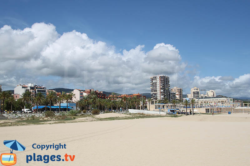 Mataro : son bord de mer depuis la plage - Espagne
