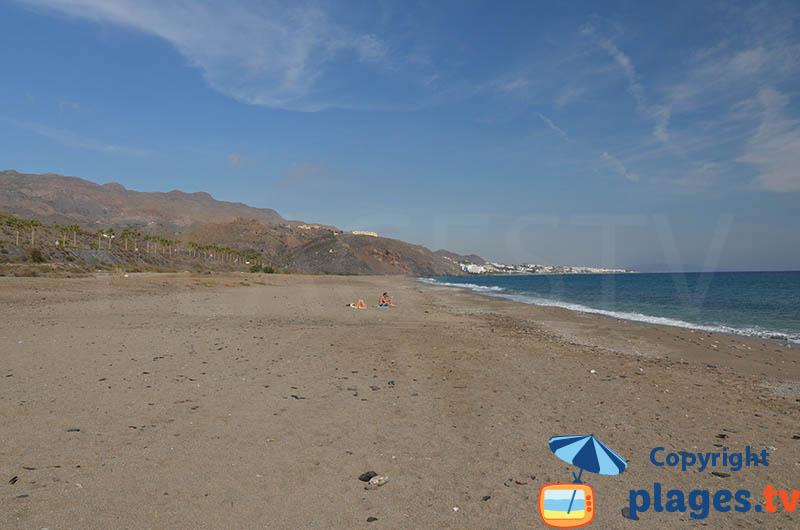 Plage de Mojacar dans le parc de Cabo de Gata