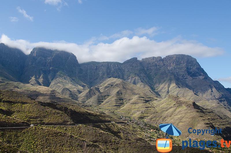 Montagne de la côte ouest de Gran Canaria