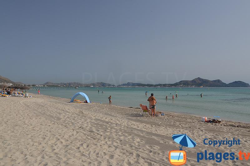 Muro - l'une des plus grandes plages de Majorque