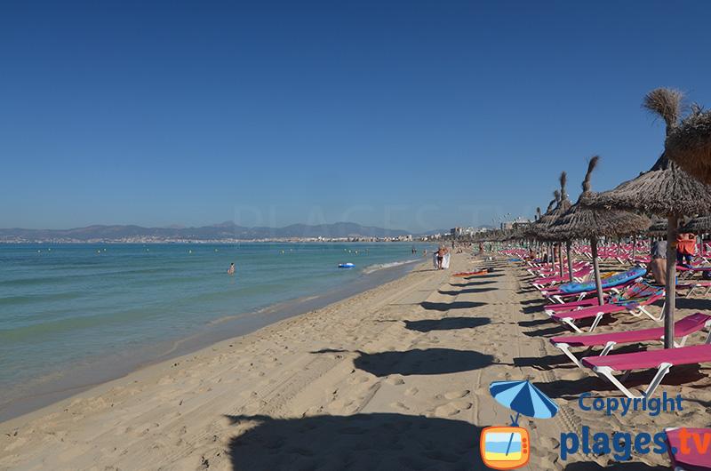 Immense plage de Palma de Majorque