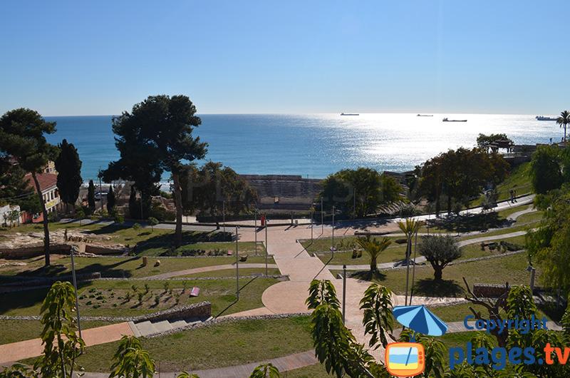 Parc en bord de mer à Tarragone