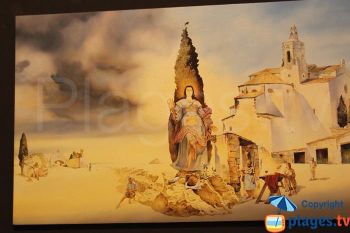 Tableau dans l'église de Cadaquès de Dali ?