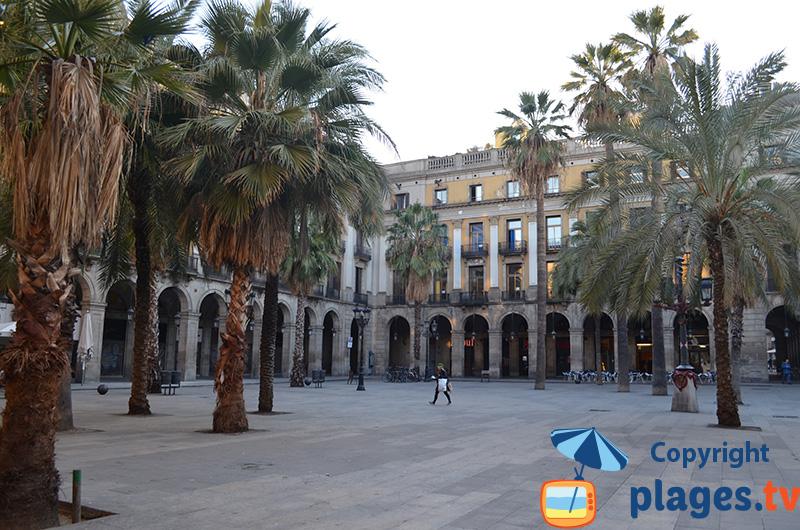 Plaça Reial à Barcelone