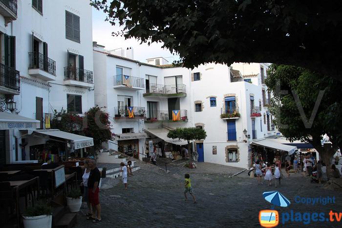 Place de Cadaquès: la volonté catalane d'être indépendant