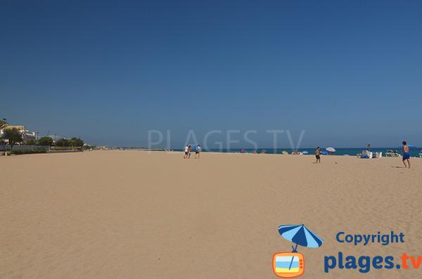 Photo de la plage du Centre de Malgrat de Mar en Espagne