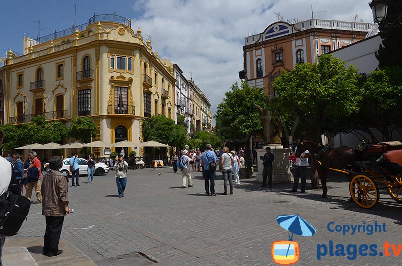 Place dans le centre de Séville à proximité de la cathédrale