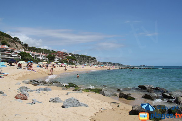 Photo de la plage des 3 Singes à Caldes d'Estrac