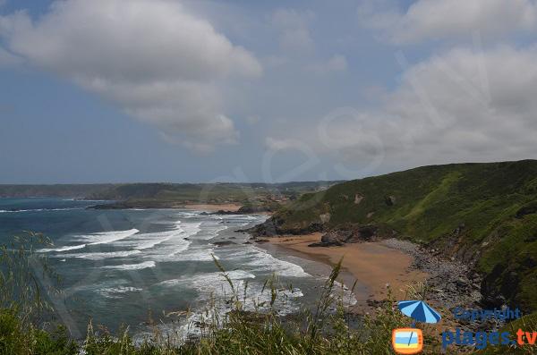 Photo de la plage d'Aguilera dans les Asturies en Espagne