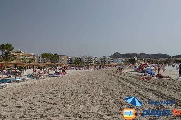 Bord de la plage d'Alcudia dans le centre-ville