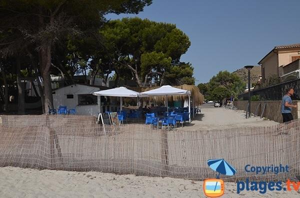 Paillote sur la plage d'Alcudia - secteur sud