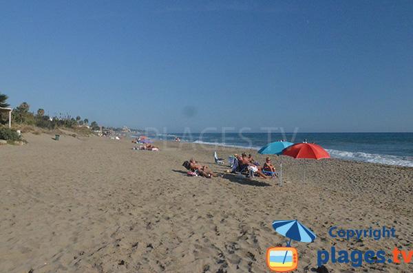 Plage d'Alicate à Marbella