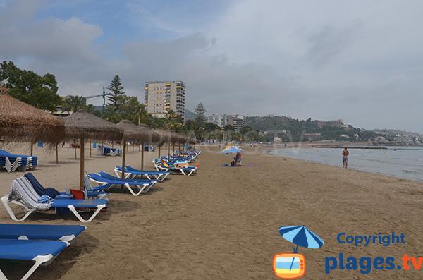 Location de matals sur la plage Almadrava à Benicassim