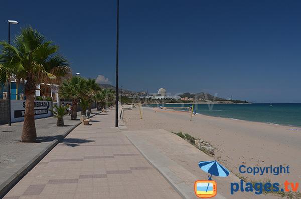 Photo de la plage de l'Almadrava à l'Hospitalet del Infante - Espagne