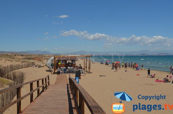 Accès à la plage de l'Altet à Alicante