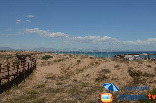 Photo de la plage de l'Altet à Alicante