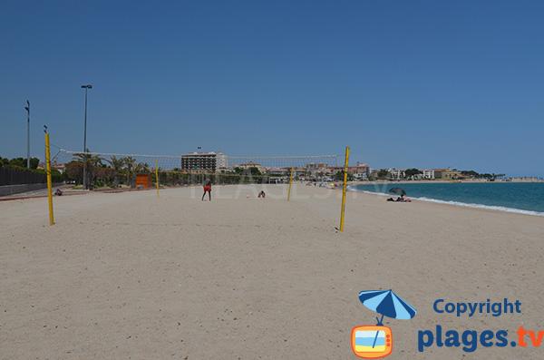 Photo de la plage de l'Arenal à l'Hospitalet de l'Infant - Espagne