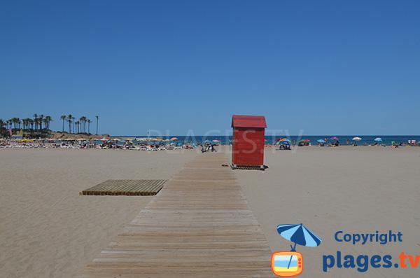 Accès à la plage d'Arenal à Javea