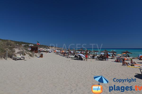 Plage Arenals à Playa Migjorn - Formentera