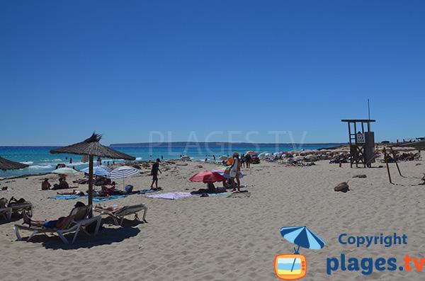 Plage des Dunes - Arenals à Playa Migjorn - Formentera