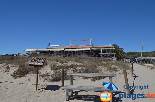 Restaurant de plage - Arenals à Playa Migjorn - Formentera