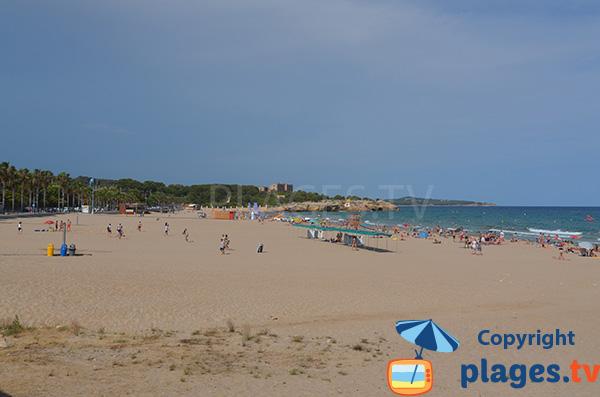 Beautiful beach in Tarragona in Spain