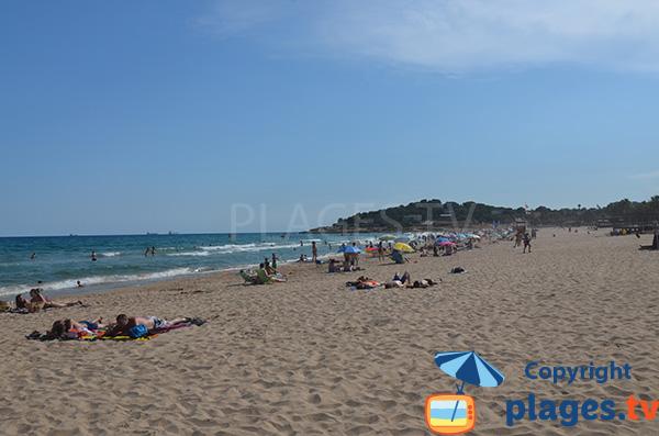 Beach of Arrabassada in Tarragona in Spain