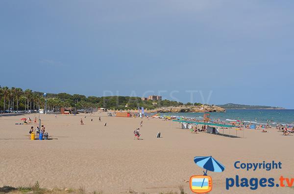 Photo of Arrabassada beach in Tarragona in Spain