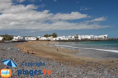 Plage à Arrieta à Lanzarote
