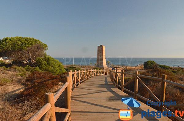 Accès à la plage de Cabopino à Marbella - Espagne