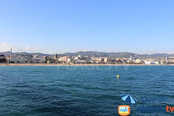 Photo de la plage de Badalona en Espagne